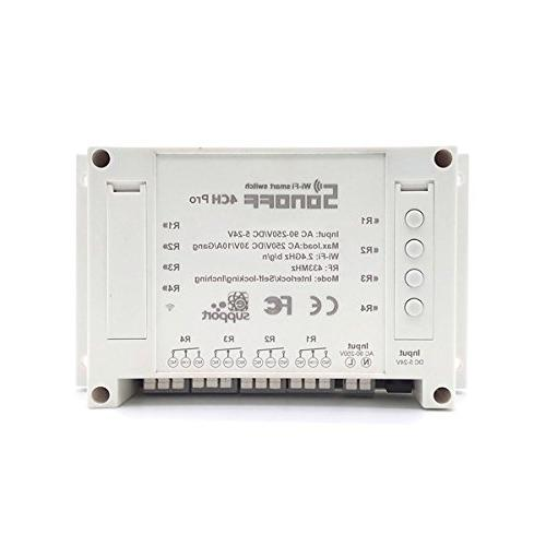 4CH Pro 10A 2200W 2.4Ghz 433MHz RF Inching/Self-Locking/Inte
