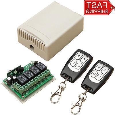 12V 4CH Channel Wireless Remote Control Radio Relay Switch T