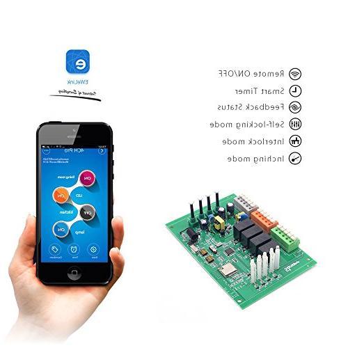 Sonoff 4CH Smart Switch Din Rail Mounting Home Control DIY Alexa