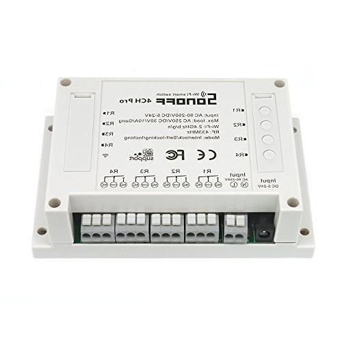Sonoff 4CH Smart Switch Rail Control Appliances DIY Smart with Alexa