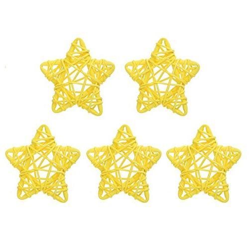 5Pcs 6CM Lovely Rattan Star Ball DIY Hanging Ornaments Birth
