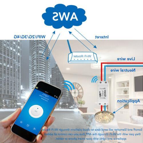 5x Sonoff WiFi Home Switch Control