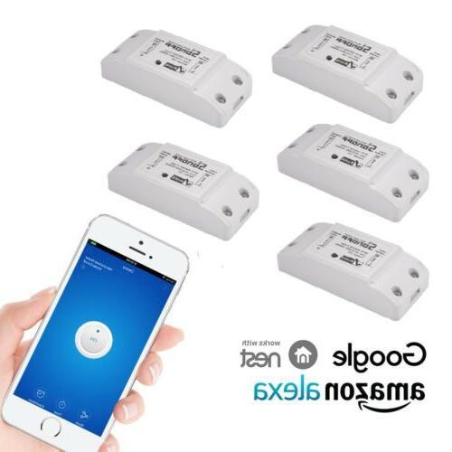 5x sonoff wifi smart home switch module