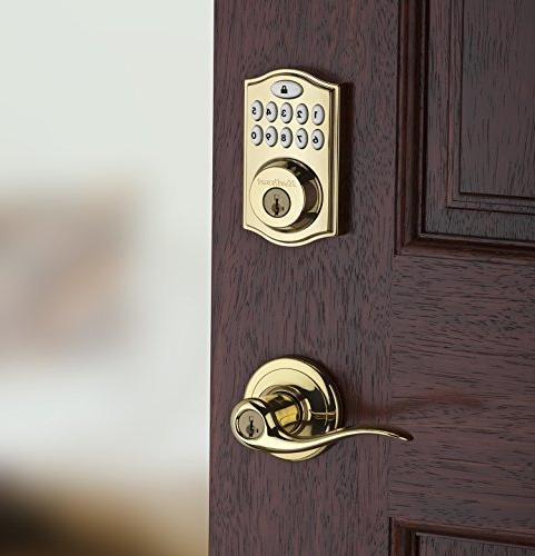 Kwikset Zigbee Echo Plus Xfinity Lock, Works with Featuring Smartkey in Brass