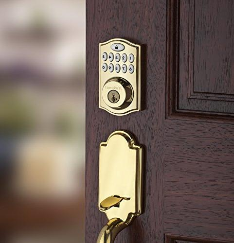 Kwikset 99140-007 Zigbee Plus and Xfinity Lock, Works Featuring in Brass