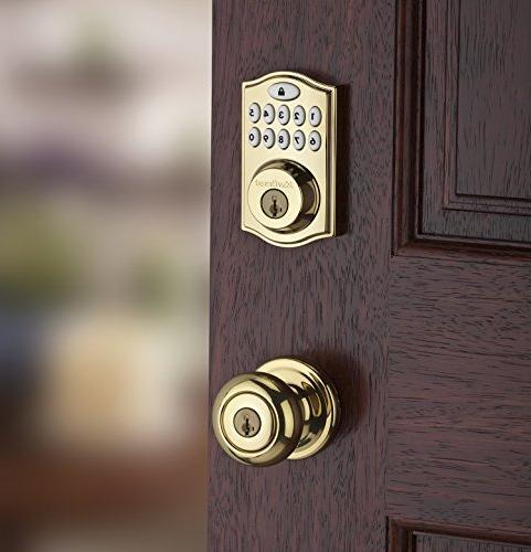 Kwikset 99140-007 Smartcode 914 Zigbee Xfinity Lock, with Featuring Smartkey Brass