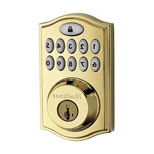Kwikset Smartcode 914 Zigbee Echo Xfinity Lock, Works Featuring Brass