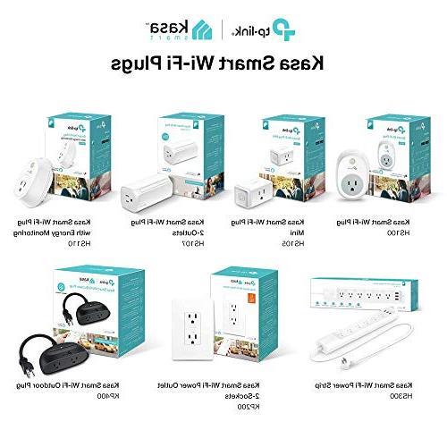 Kasa Smart Plug by Plug, No Works with Alexa and Google
