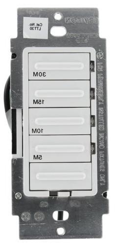 Leviton LTT30-1LW Decora 600W Incandescent/5A Resistive 5-10