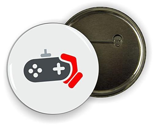 Rikki Knight Red Gamers Console Design Funny 2.25 inch Pinba