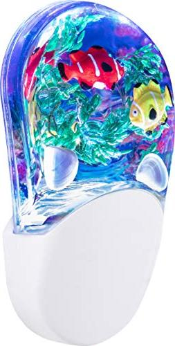 Jasco Aqualites Color-Changing LED Night Light, Tropical Fis