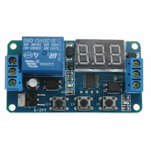 Automation DC 12V LED Display Digital Delay Timer Control Sw