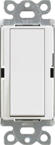 Lutron CA-3PSNL-WH Diva Satin Colors 15-Amp 3-Way Switch wit
