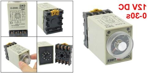 uxcell Power On Delay Relay AH3-3 w Base