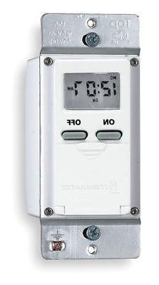 Digital Timer,7-Day,SPST,120 V,White INTERMATIC EI500WC