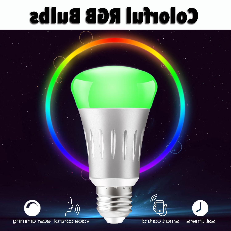 Dimmable Wifi Smart Bulbs For Amazon Google Home