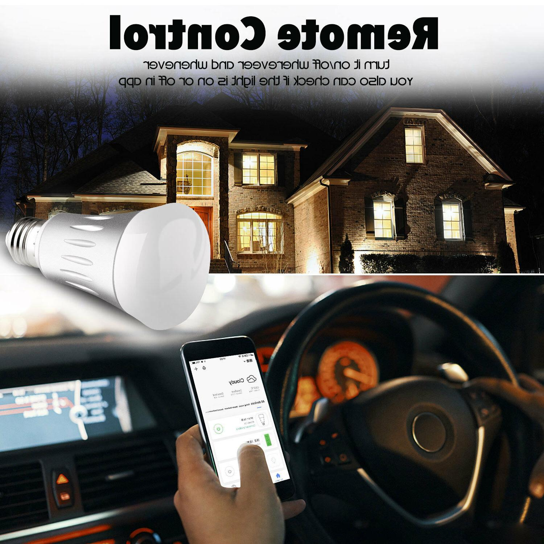 Dimmable E27 RGB LED Wifi Bulbs For Amazon Google
