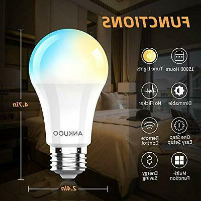 Dimmable Bulbs by Ankuoo,Remote Bulb,Wireless Bulb