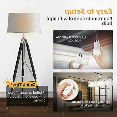 Dimmable Bulbs Ankuoo,Remote E26 Bulb,Wireless