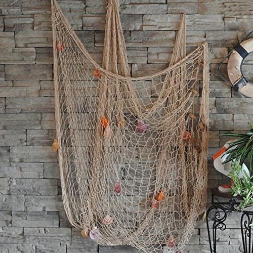 fishing net bar 3d wall