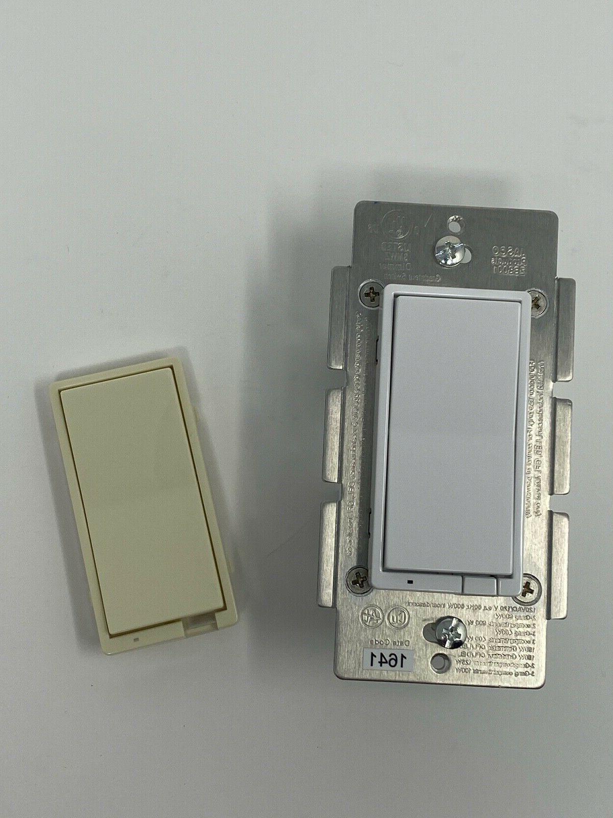 GE Zigbee Dimmer 3-Way/4-Way White/Almond Rocker Light Switch