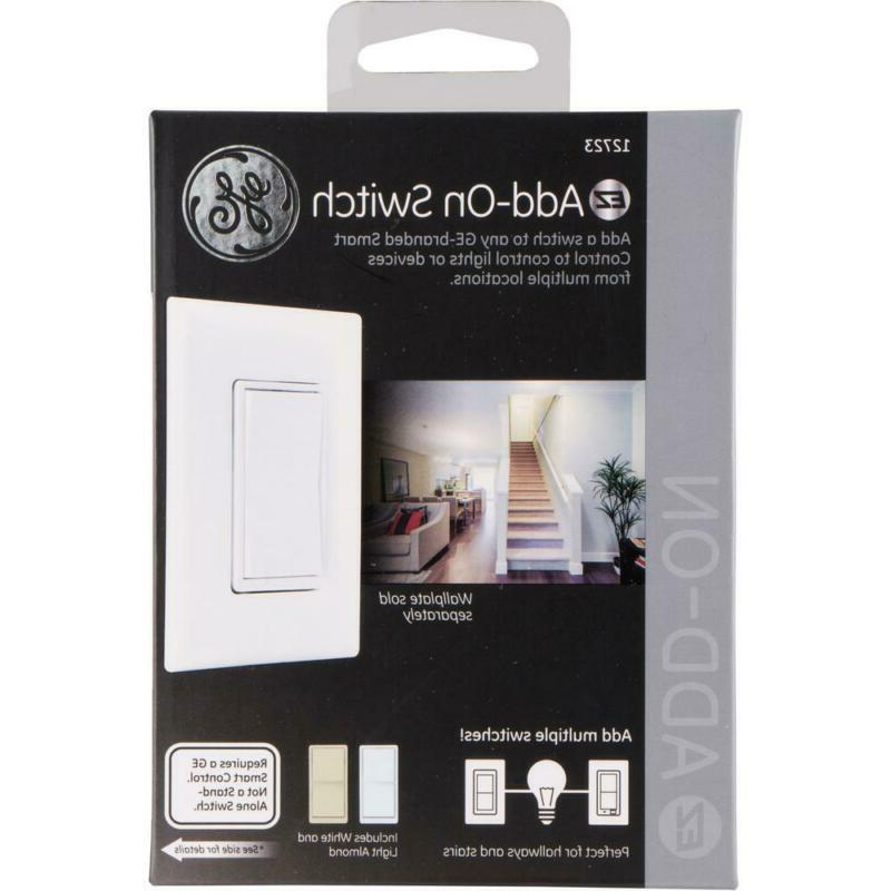 Home 3-Way Auxiliary Add-On Switch, Almond/White