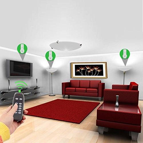 uxcell Wireless US Plugs Remote Control Switch Light Home Automation Household Appliances