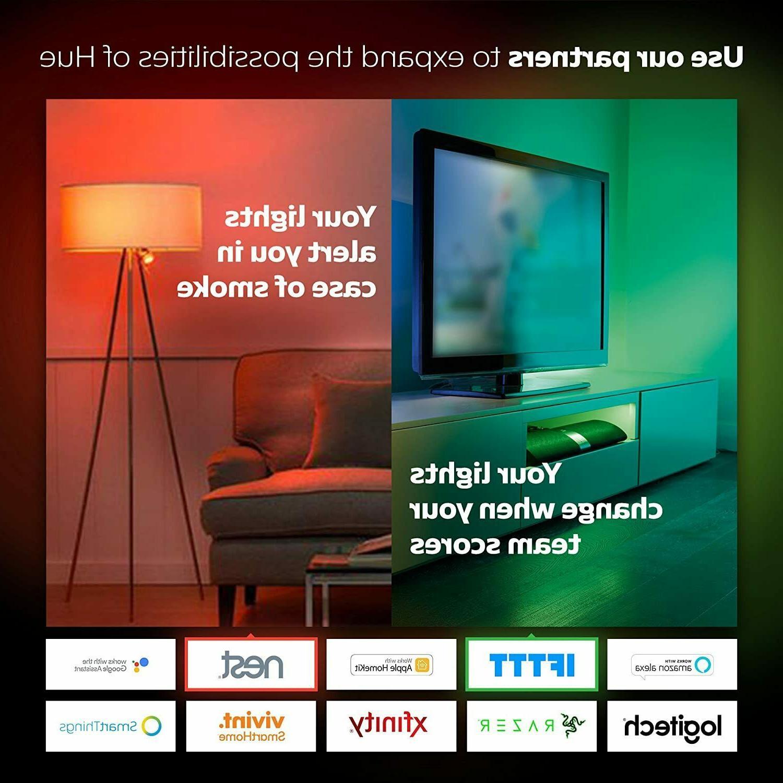 Philips Hue Smart Hub White Home Automation Light Kit NEW