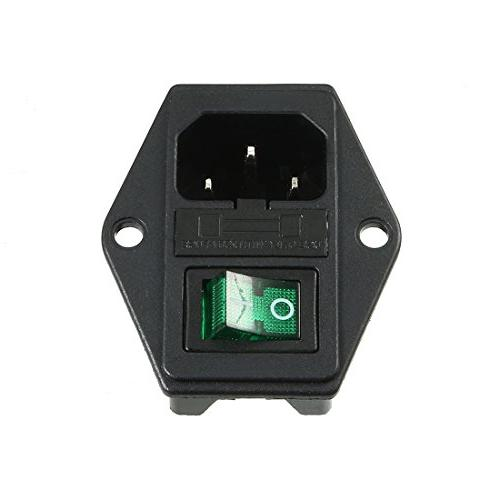 uxcell IEC 320 C14 Inlet Male Connector Switch + Fuse