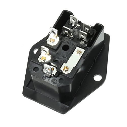 uxcell 320 Inlet Male Connector w Rocker Switch + Fuse