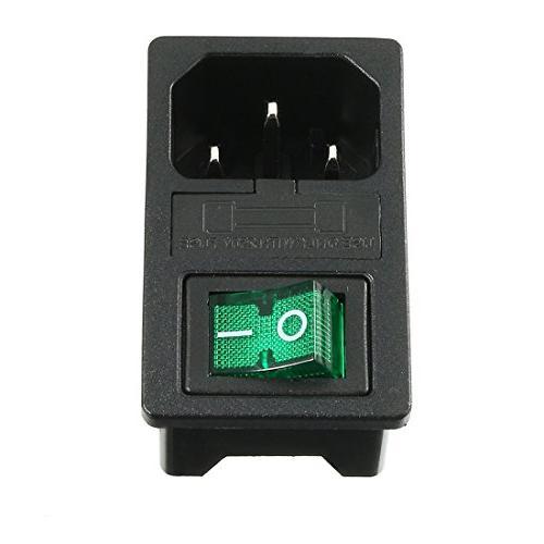 uxcell IEC 320 Supply Green Light