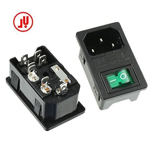uxcell 5PCS Rocker Switch IEC Light +