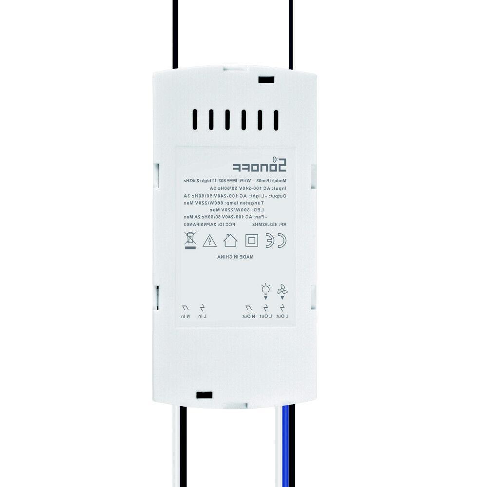 SONOFF iFan03 Home Ceiling Fan Switch Light Control Wireless