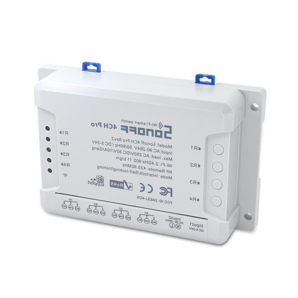 ITEAD SONOFF Pro R2 Din Rail <font><b>On</b></font>/<font><b>off</b></font> Wireless Switch <font><b>Automation</b></font> Control For 433Mhz