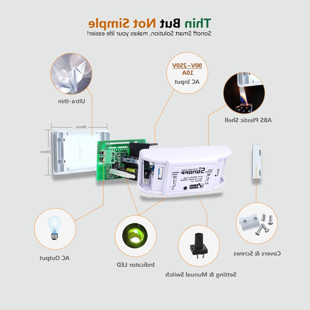 Itead <font><b>Sonoff</b></font> Switch Domotica Light <font><b>Home</b></font> <font><b>Automation</b></font> Relay Work Alexa