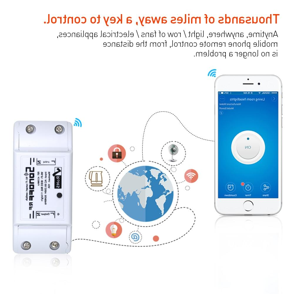 SONOFF RF WiFi Switch Remote Controller Smart <font><b>Home</b></font> Diy 220V 433mHz