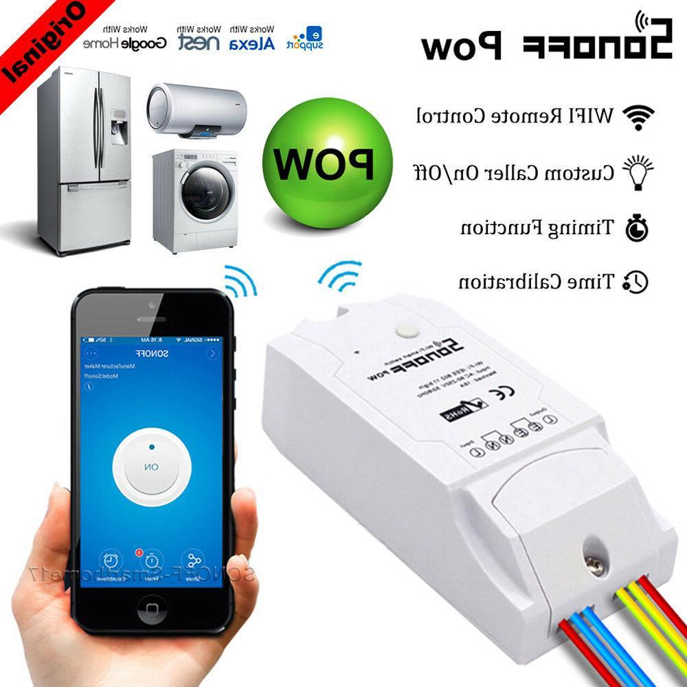 Sonoff Pow 16A WiFi Wireless Smart Swtich Module Power Consu