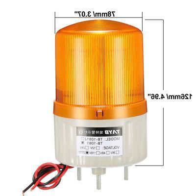 LED Warning Light Bright Alarm Lamp Buzzer 90dB