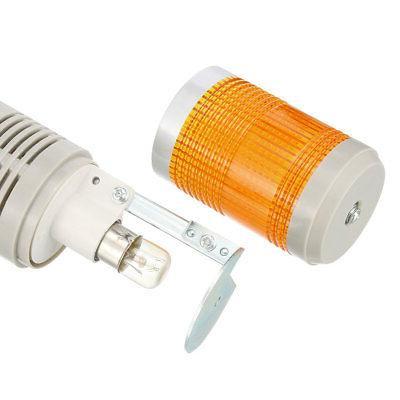 LED Warning Light Bright Tower Lamp Buzzer 90dB AC220V Yellow