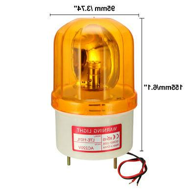LED Warning Rotating Flashing Industrial Lamp AC 220V