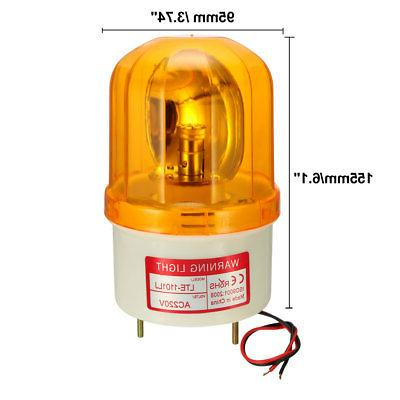 LED Rotating Flashing Buzzer 90dB AC Yellow
