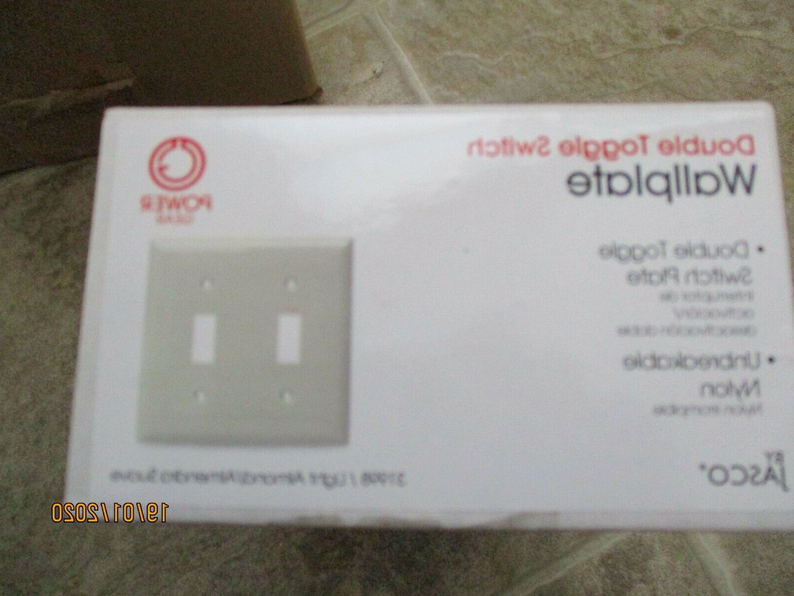 Lot Unbreakabl Double Toggle Wall Light Almond