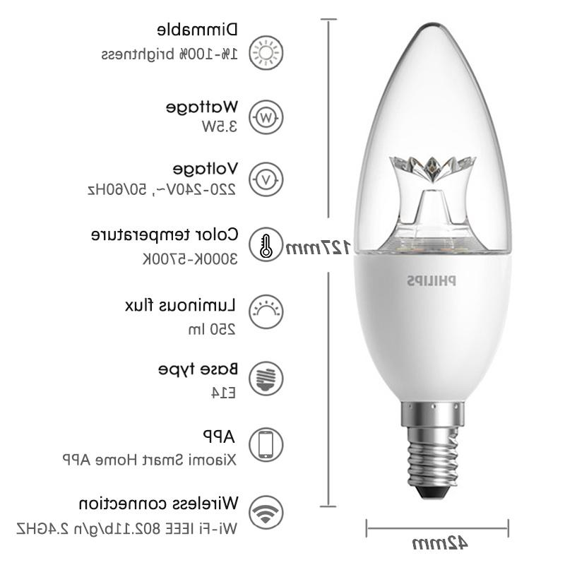 Candle Bulb E14 Dimmable Lamp APP Smart