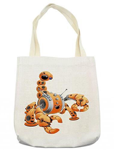 modern tote bag scorpion robot