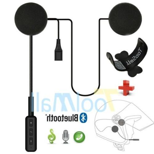 Motorcycle Helmet Headset Speakers Mic Bluetooth Handsfree M