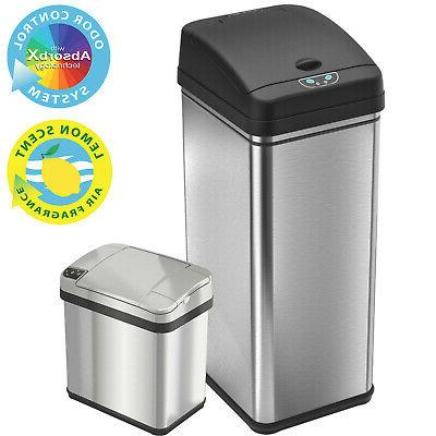 Combo 13 Gallon+2 Gallon Sensor Automatic Touchless Trash Ca