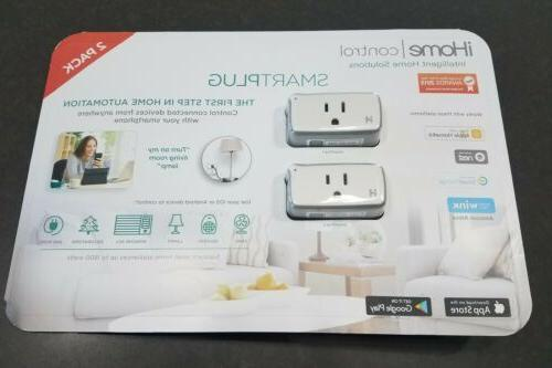 NEW iHome Control Smart Plug 2 pack,  iSP5 Apple, IOS and AN
