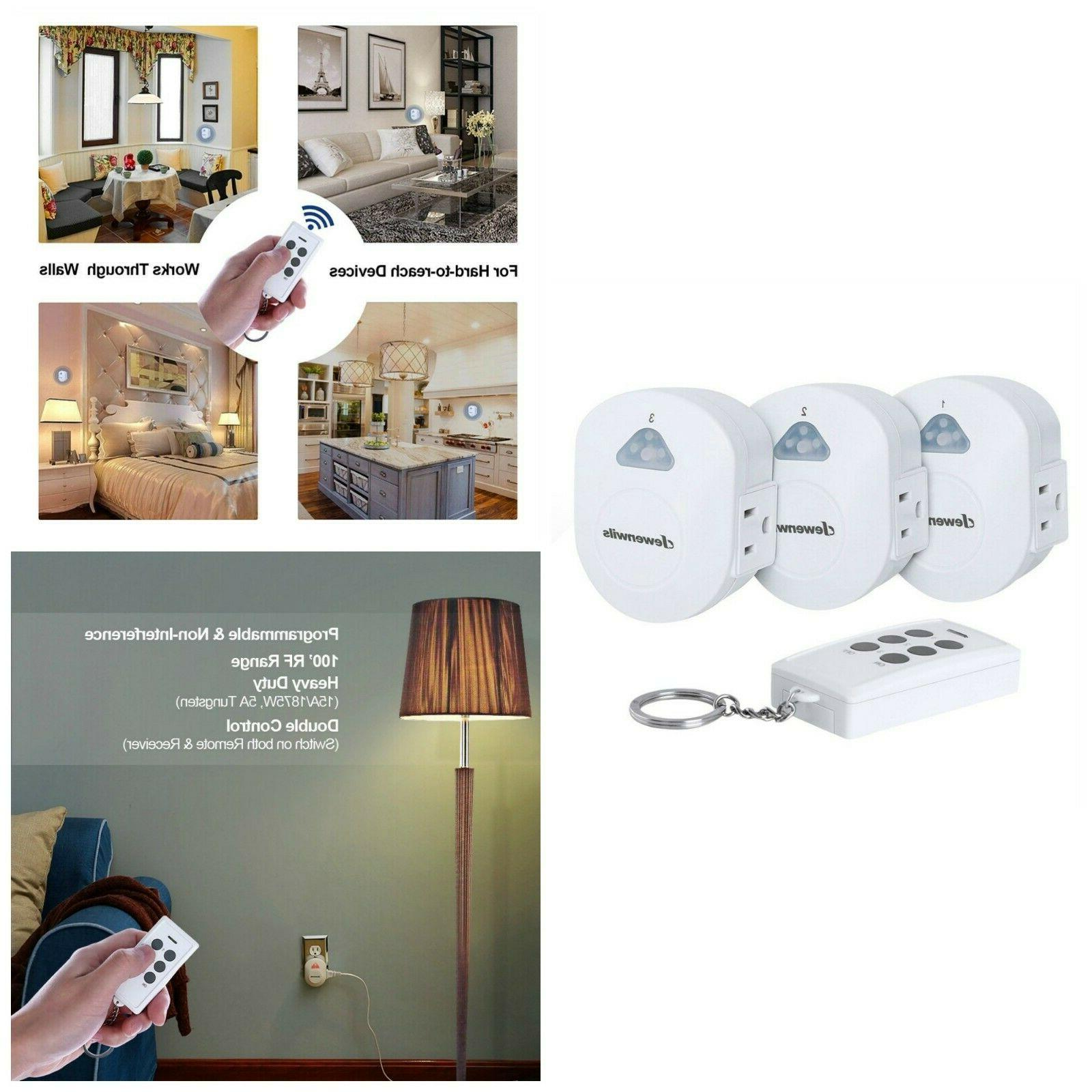 ON OFF Light Switch Side Plug Wireless Remote Control Electr