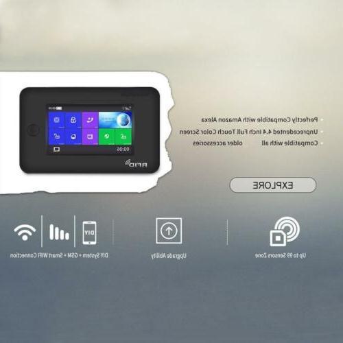 P49 APP IP WiFi+GSM+RFID Wireless Smart Home Security Alarm System+Amazon Alexa