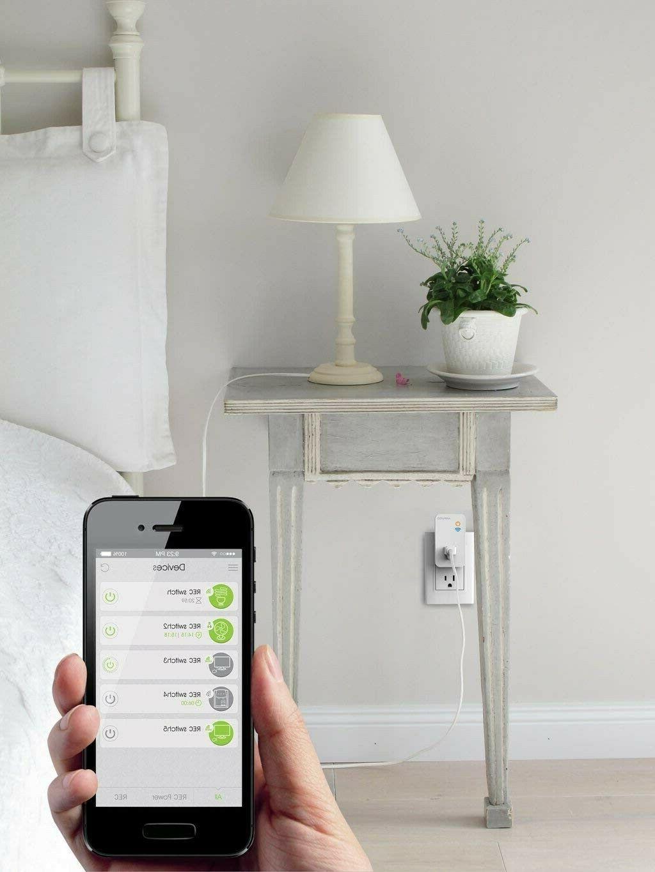 Ankuoo White Wi-Fi Smart Plug Push Notifications, Alexa